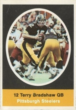 1972 Sunoco Stamps  Terry Bradshaw #512 Football Card