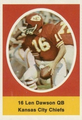 1972 Sunoco Stamps  Len Dawson #273 Football Card
