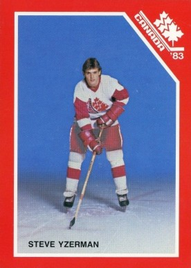 1983 Canadian National Juniors Steve Yzerman #20 Hockey Card