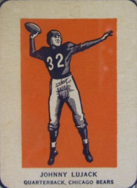 1952 Wheaties Johnny Lujack #4b Football Card
