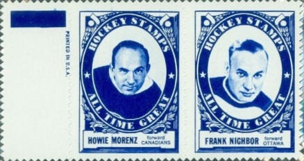 1961 Topps Stamp Panels Howie Morenz # Hockey Card