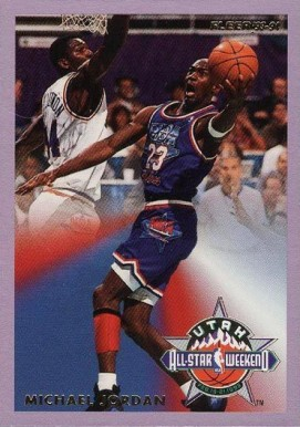 1993 Fleer All-Stars Michael Jordan #5 Basketball Card