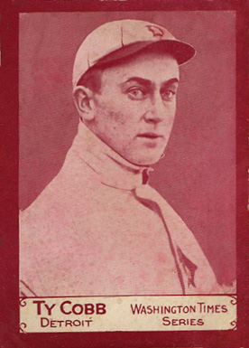 1910 Washington Times Ty Cobb #1 Baseball Card