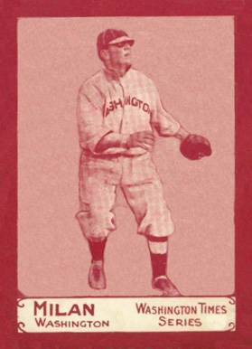 1910 Washington Times Clyde Milan #9 Baseball Card