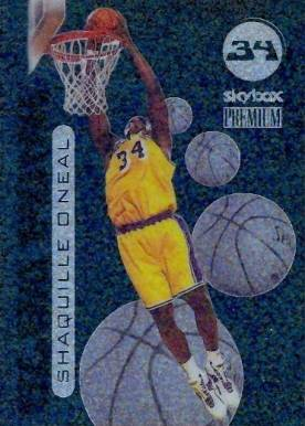 1998 Skybox Premium Slam Funk Shaquille O'Neal #4 Basketball Card
