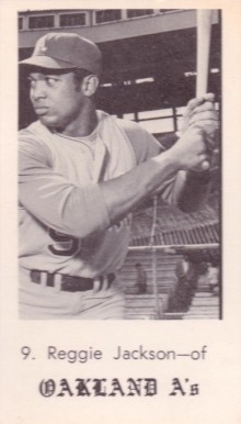 1969 Oakland A's Picture Pack Reggie Jackson # Baseball Card