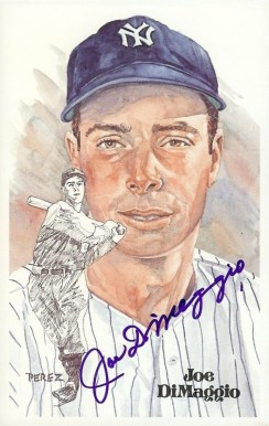 1980 Perez-Steele HOF Postcard Joe DiMaggio #75 Baseball Card