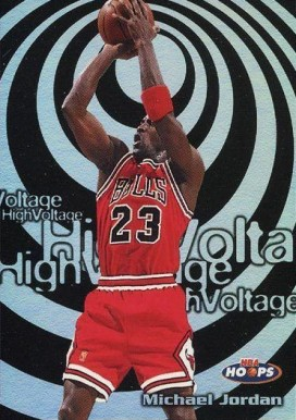 1997 Hoops High Voltage Michael Jordan #14 Basketball Card