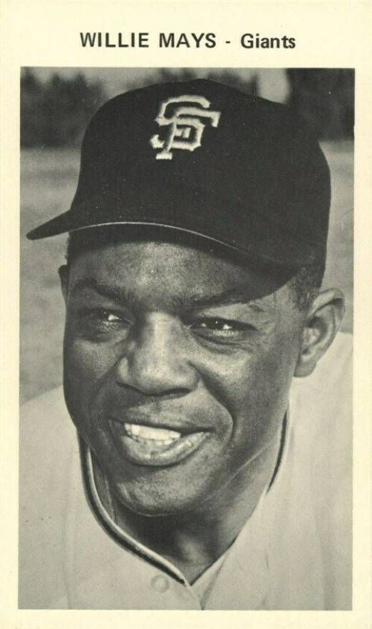 1969 San Francisco Giants Picture Back Willie Mays # Baseball Card