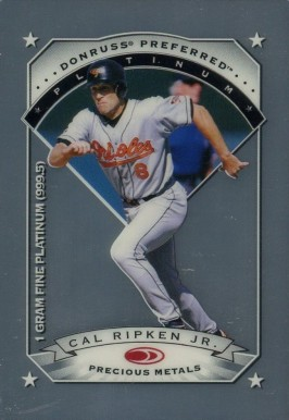 1997 Donruss Preferred Precious Metals Cal Ripken #18 Baseball Card