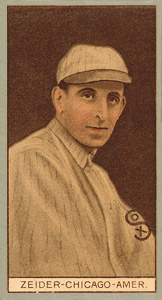 1912 Brown Backgrounds (Red Cycle) Rollie Zeider #206 Baseball Card