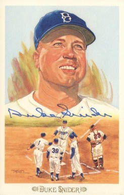 1989 Perez-Steele Celebration Postcards Duke Snider #38 Baseball Card