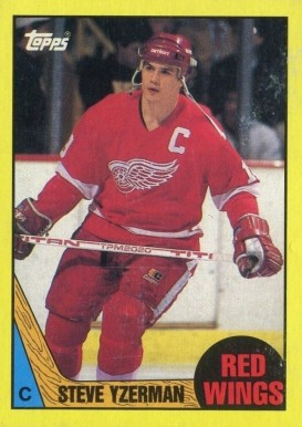 1987 Topps Box Bottoms Steve Yzerman #C Hockey Card