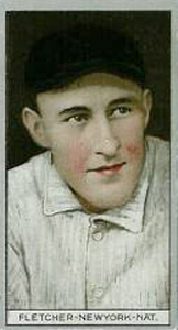1912 Brown Backgrounds Red Cycle Arthur Fletcher #60 Baseball Card