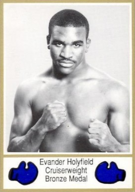 1986 Brown's Boxing Gold Border Evander Holyfield #62 Boxing & Other Card