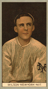 1912 Brown Backgrounds (Common back) Hooks Wilson #197 Baseball Card
