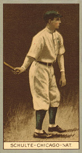 1912 Brown Backgrounds (Common back) Frank Schulte #163 Baseball Card