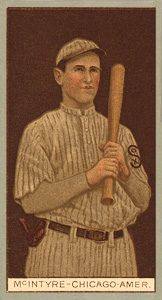 1912 Brown Backgrounds (Common back) Matty McIntyre #120 Baseball Card