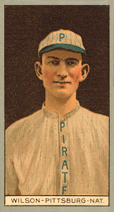 1912 Brown Backgrounds (Broadleaf) Owen Wilson #198 Baseball Card
