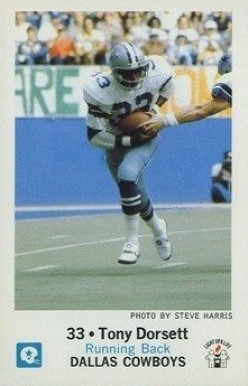 1979 Cowboys Police Tony Dorsett #33 Football Card