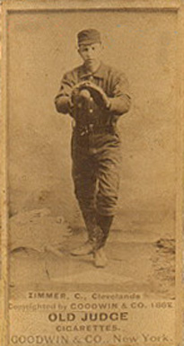 1887 Old Judge Chief Zimmer #511-2a Baseball Card