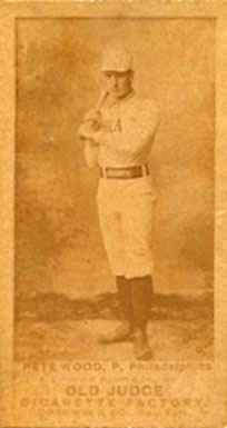 1887 Old Judge Pete Wood #509-1a Baseball Card