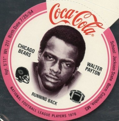1976 Coke Bears Discs Walter Payton # Football Card