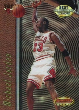 1997 Bowman Best Techniques Refractor Michael Jordan #2 Basketball Card