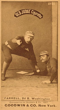1887 Old Judge Farrell 2d B Washington 231a Baseball Vcp Price