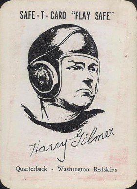 1948 Safe-T-Card Harry Gilmer #27 Football Card