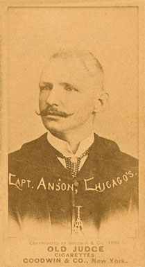 1887 Old Judge Capt. ANSON, Chicago's #11-1b Baseball Card