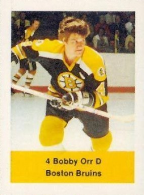 1974 NHL Action Stamps Bobby Orr #126 Hockey Card