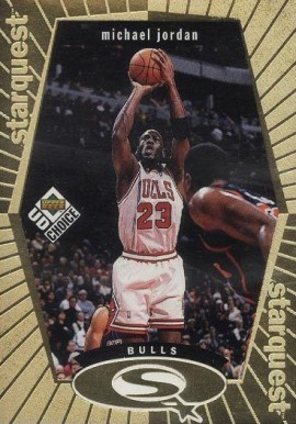 1998 UD Choice Starquest Gold Michael Jordan #30 Basketball Card