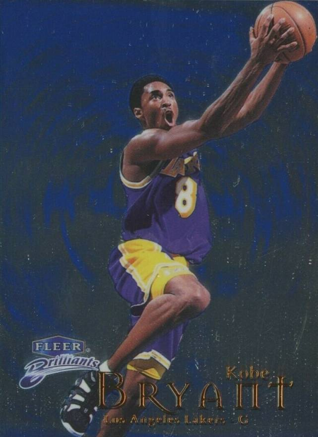 1998 Fleer Brilliants Blue Kobe Bryant #70 Basketball Card