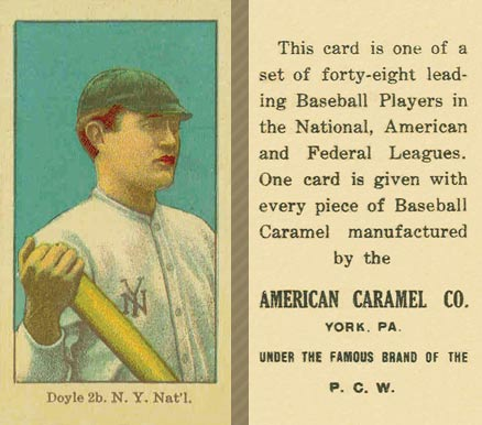 1915 American Caramel Larry Doyle #18 Baseball Card