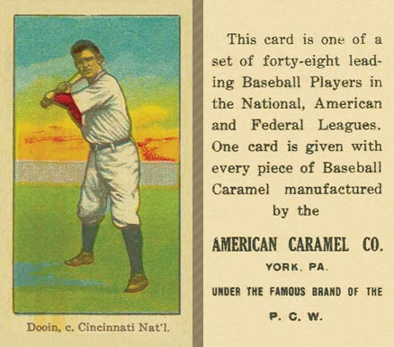 1915 American Caramel Red Dooin #16 Baseball Card