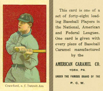 1915 American Caramel Sam Crawford #13 Baseball Card