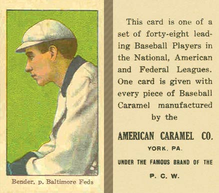 1915 American Caramel Chief Bender #2 Baseball Card