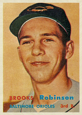 1957 Topps Brooks Robinson #328 Baseball Card
