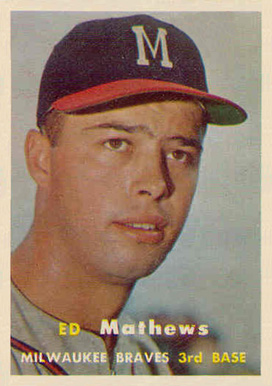 1957 Topps Eddie Mathews #250 Baseball Card