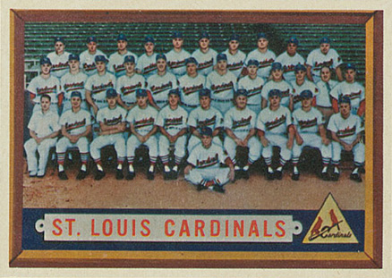 1957 Topps St. Louis Cardinals Team #243 Baseball Card