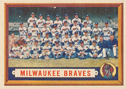 1957 Topps Milwaukee Braves Team #114 Baseball Card