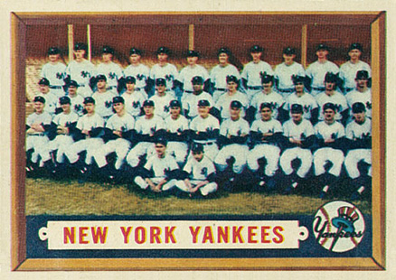 1957 Topps New York Yankees Team #97 Baseball Card