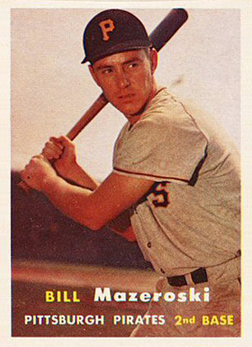 1957 Topps Bill Mazeroski #24 Baseball Card