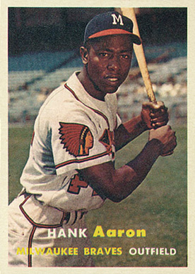 1957 Topps Hank Aaron #20 Baseball Card