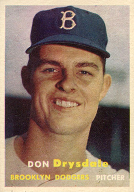 1957 Topps Don Drysdale #18 Baseball Card