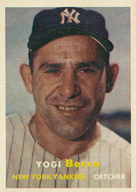 Yogi Berra Hall Of Fame Baseball Cards