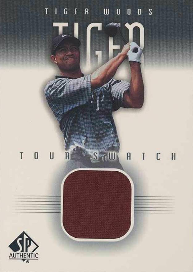 2001 SP Authentic Tour Swatch Tiger Woods #TW-TS Boxing & Other Card