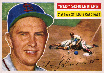 1956 Topps Red Schoendienst #165g Baseball Card