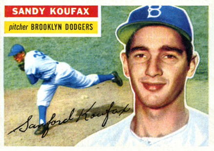 1956 Topps Sandy Koufax #79w Baseball Card